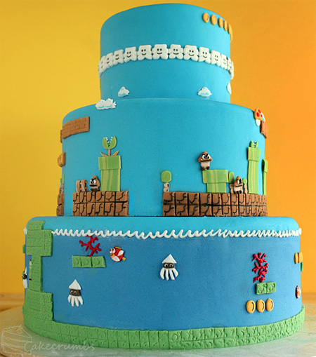 Super Mario Bros Levels Cake 6