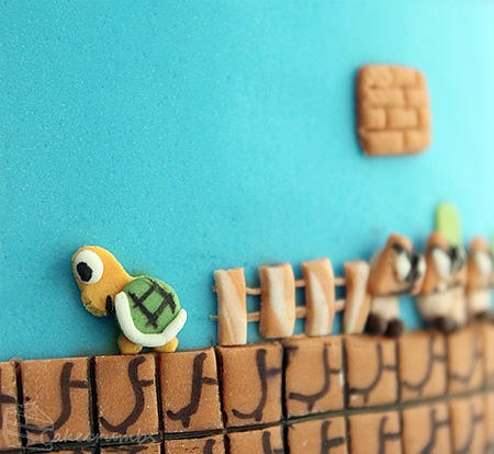 Super Mario Bros Levels Cake 7
