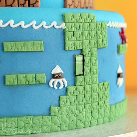 Super Mario Bros Levels Cake 8