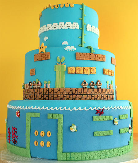 Super Mario Bros Levels Cake 9