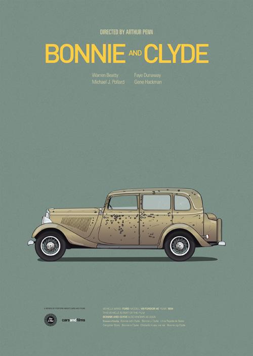Bullet-filled Bonny & Clyde Car