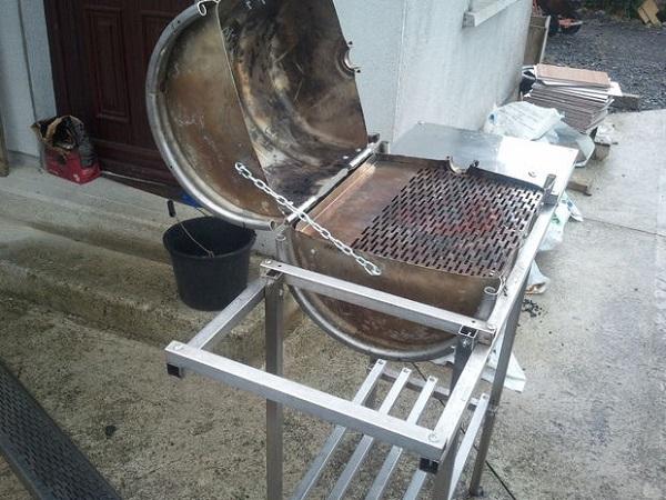 DIY Beer Keg BBQ Barrel Made without Welding 2   Walyou