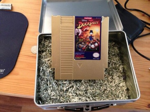 DuckTales Gold NES cartidge image
