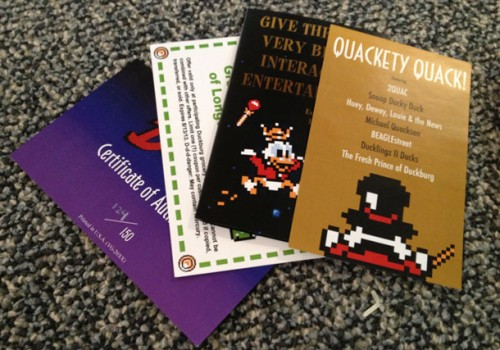 DuckTales promo pamphlets image