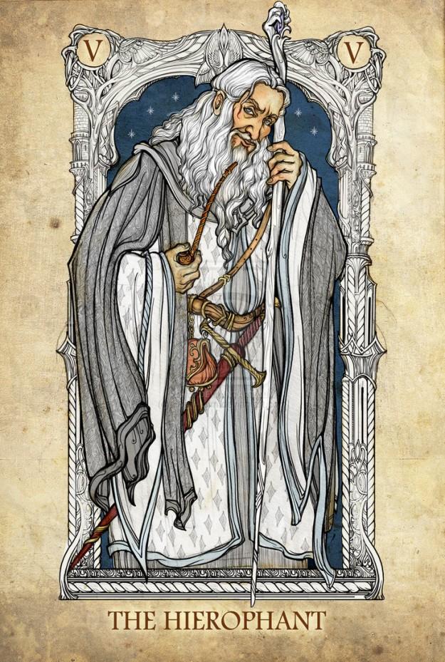 Gandalf the White Tarot Card