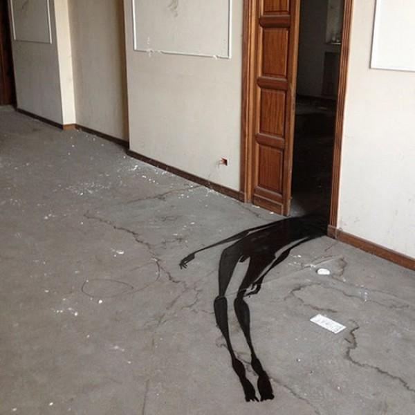 Ghost going through the door
