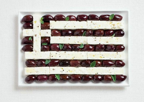 Greece Food Flag