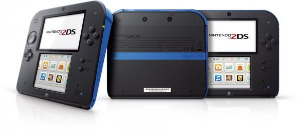 Nintendo 2DS blue three sides image
