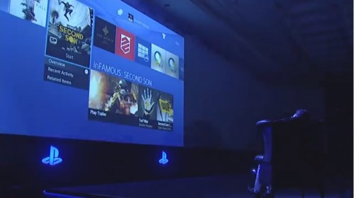 PlayStation 4 UI Gamescom 2013 demo image