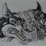 Split Wolf Head
