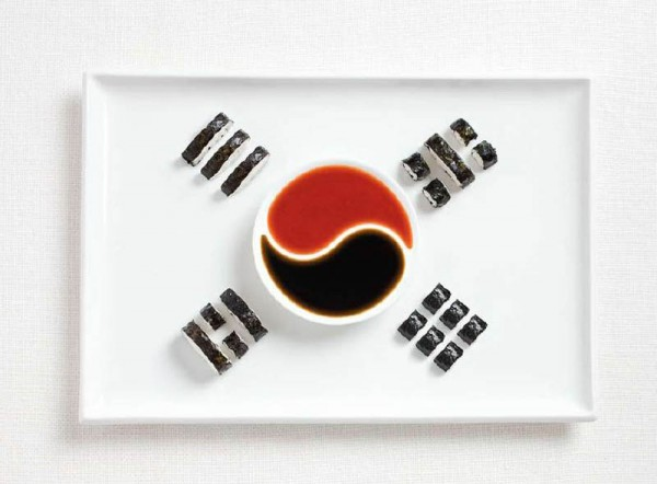 South Korea Food Flag