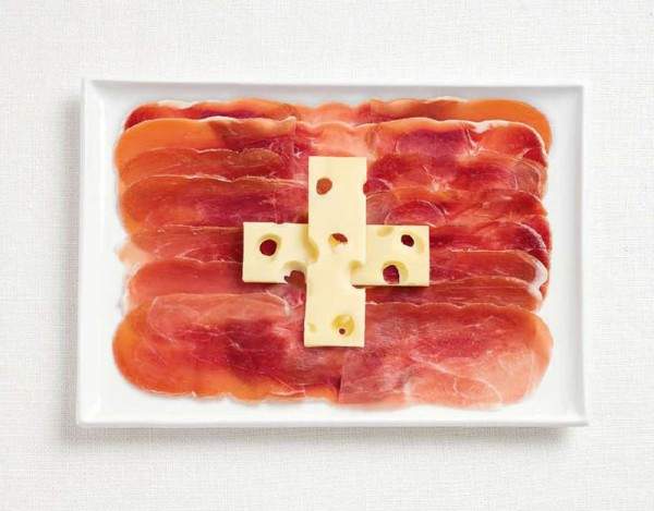 Switzerland food flag
