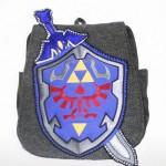 Zelda Sword Shield handcrafted bag Geeky U image