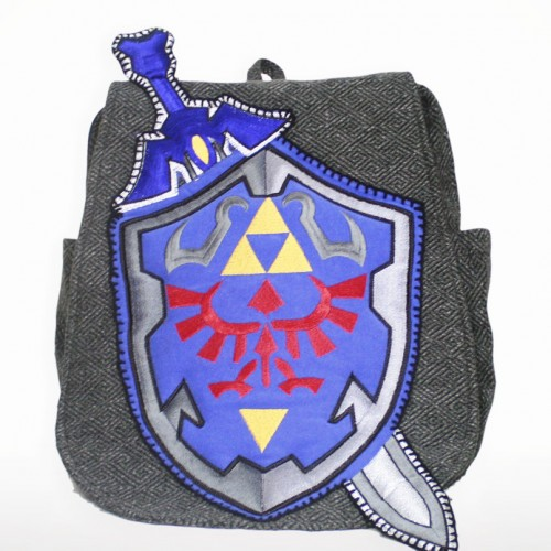 Zelda Sword Shield handcrafted bag Geeky U image