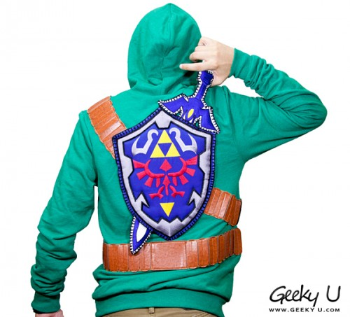 Zelda sweatshirt Master Sword Shield by Geeky U image