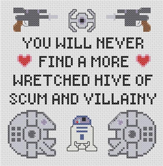 star wars cross stitch