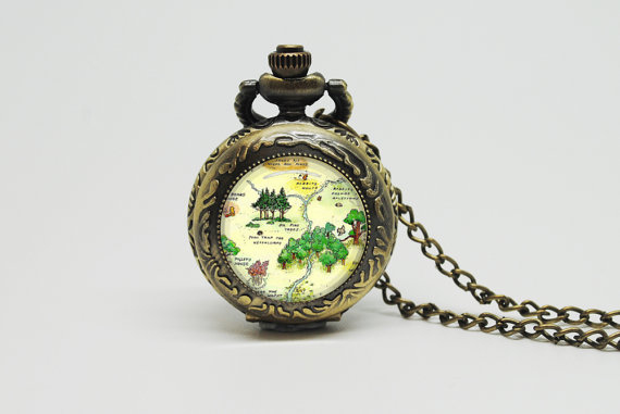 Winnie the Pooh watch necklace
