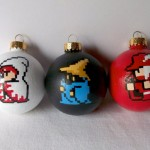 8-bit Final Fantasy ornaments by GingerPots