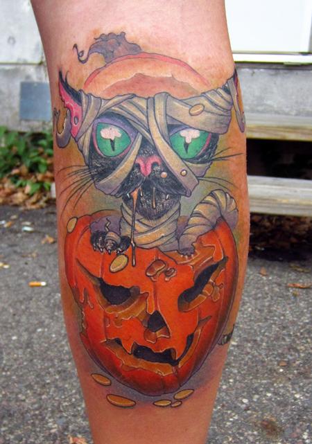Cat & Pumpkin