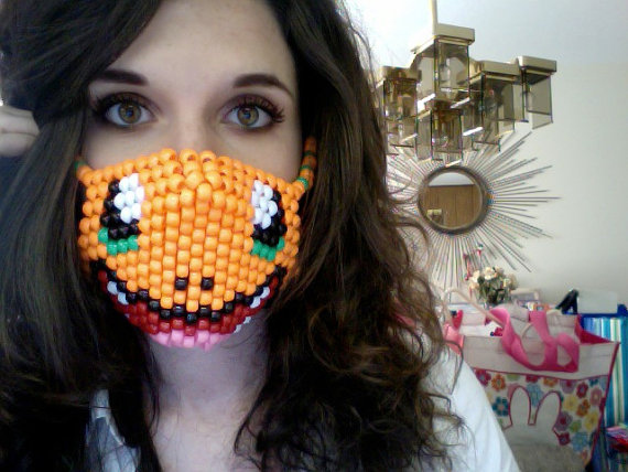 Charmander rave kandi mask