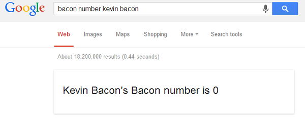 Google bacon number image