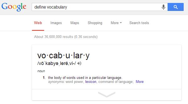 Google define image