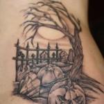 Graveyard Pumpkin Tattoo