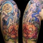 Happy Halloween Tattoo