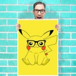 Hipster Pikachu poster