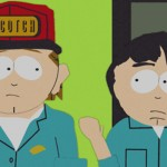 Kenny's dad and Stan's dad from South Park