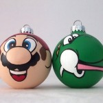 Mario Yoshi ornaments by GingerPots