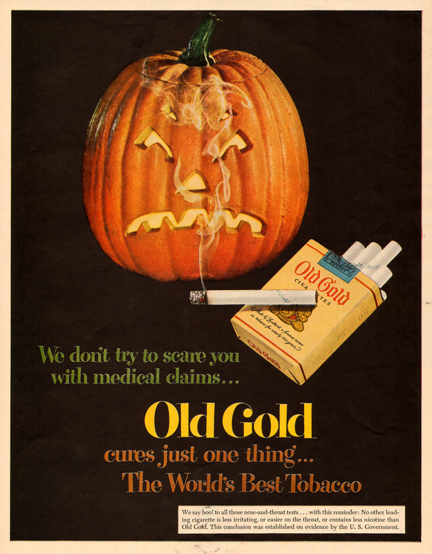 Old Gold Halloween Ad