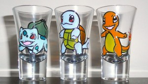 Original starter hand painted shot glasses