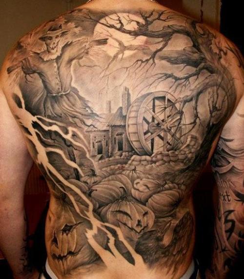 Pumpkin Field Tattoo