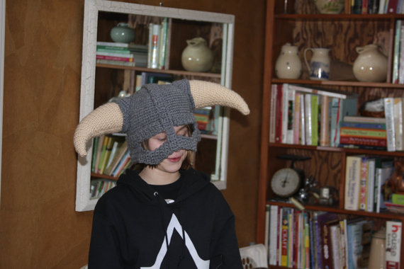 Skyrim Crocheted Helmet 2