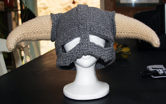 Skyrim Crocheted Helmet
