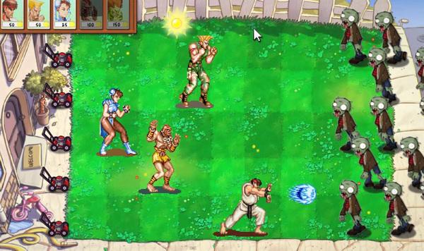 Street Fighter Versus Plants vs Zombies by NicksplosionFX image