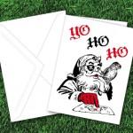 'Yo Ho Ho' Pirate Santa Christmas Card