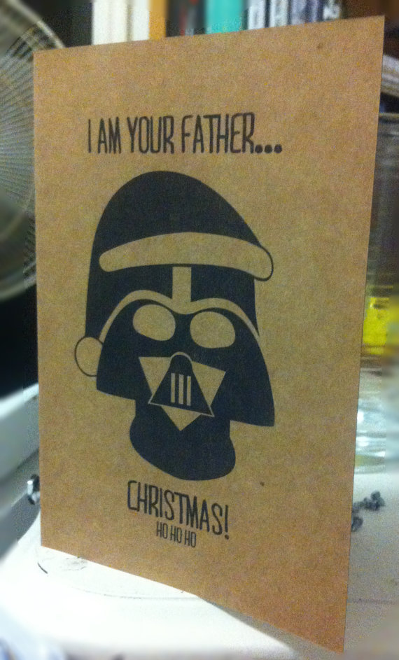 Darth Vader Father Christmas Greeting Card