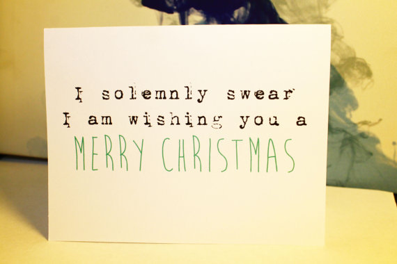 Harry Potter 'I Solemnly Swear' Christmas Card