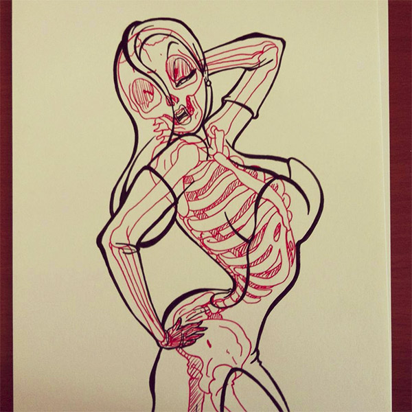 Jessica Rabbit Skeleton