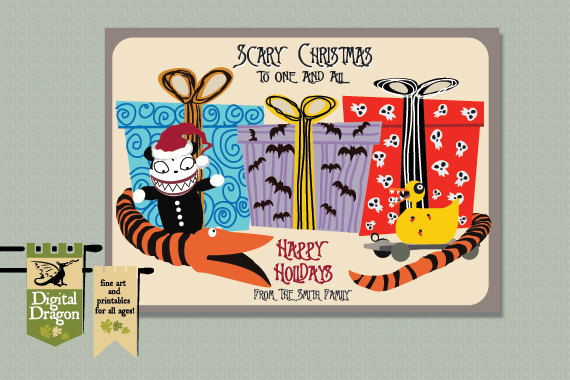 Nightmare Before Christmas Birthday Ecard Chrismast Cards Ideas