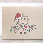 Robot Christmas Card