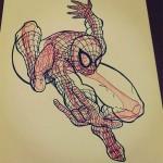 Spiderman Skeleton
