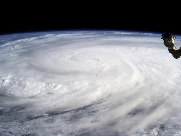 Typhoon Haiyan is photographed by Astronaut Karen L Nyberg aboard the Internatioal Space Station
