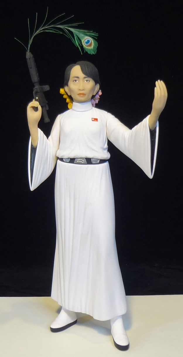 Aung San Suu Kyi as Princess Leia