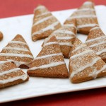 Frosty Gingerbread Tree Cookies with Lemon Icing