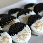 Gold Glitter Dipped Oreos