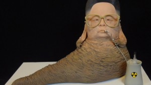 Kim Jong II as Jabba the Hutt