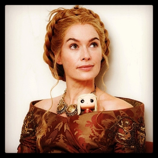Lena Headey with Cersei Lannister